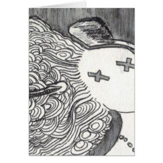Señora muerta de la impresión 2 del arte de Bijini Tarjeta De Felicitación