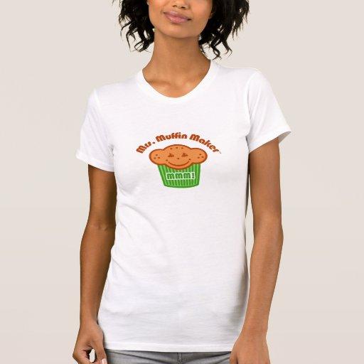 Señora Muffin Maker Camisetas