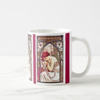 Señora Mug de Nouveau Mucha del arte Taza De Café