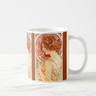 Señora Mug de Nouveau Mucha del arte Tazas De Café