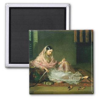 Señora musulmán Reclining, 1789 (aceite en lona) Imán Cuadrado