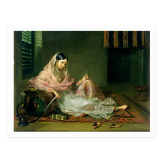 Señora musulmán Reclining, 1789 (aceite en lona) Tarjeta Postal