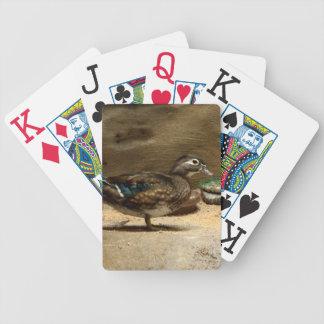 Señora naipes del pato de madera cartas de juego