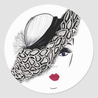 señora negra del gorra del modelo