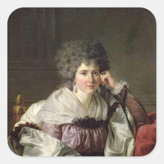 Señora Nicaise Perrin, Catherine nee Deleuze Pegatina Cuadrada