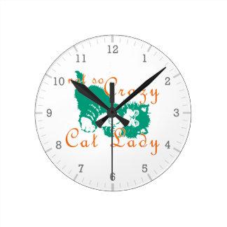 Señora no tan loca Green del gato Relojes