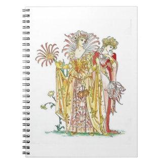Señora Notebook del lirio tigrado del vintage Libro De Apuntes