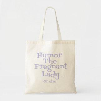 Señora o bien bolsos/totes embarazadas del humor bolsa tela barata