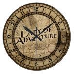 Señora Of Adventure Reloj Redondo Grande