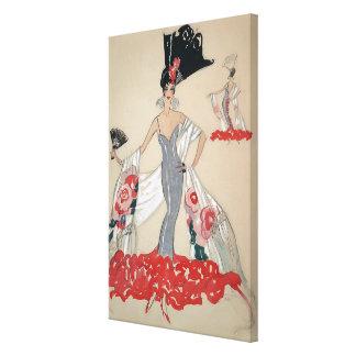 Señora Of Elegance del art déco Impresión En Lona Estirada