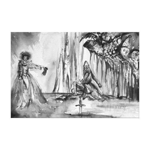 SEÑORA OF LAKE, magia y misterio Impresion En Lona