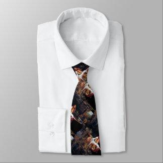 Señora Of Shallot en la corbata del arte del