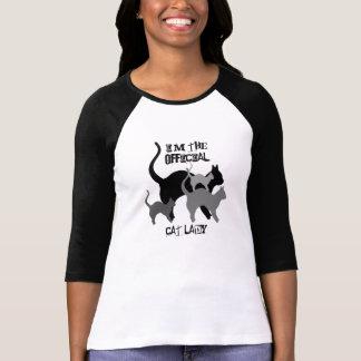 Señora oficial del gato divertida camisetas