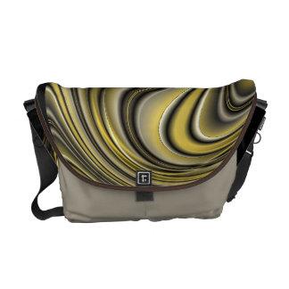 Señora ondulada bolsa de mensajeria