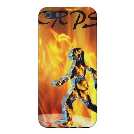 Señora O'Pain I4 Uni de Blazin del fuego y del hie iPhone 5 Funda