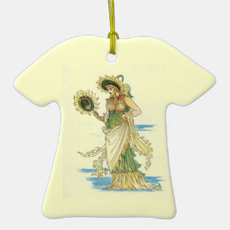Señora Ornament del girasol del vintage Ornatos