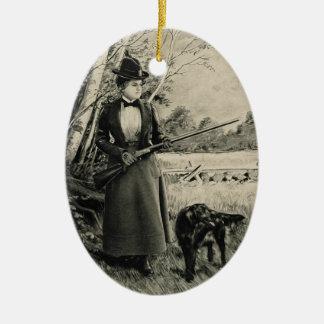 Señora Ornament del Victorian de las armas de fueg Ornamentos Para Reyes Magos