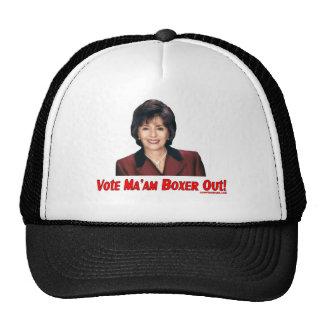 Señora Out Hat de la rebelión del voto del boxeado Gorros Bordados