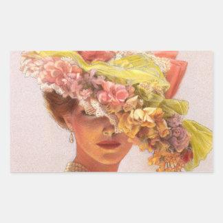 Señora Oval Stickers del Victorian del gorra de la Etiqueta