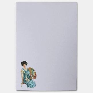 Señora Painter Palette del artista del Victorian d Post-it Notas