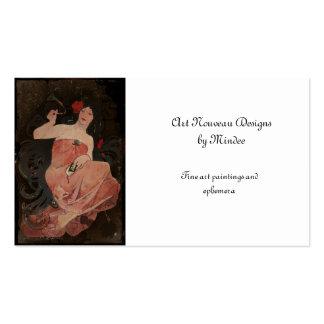 Señora parisiense en negro tarjetas de visita