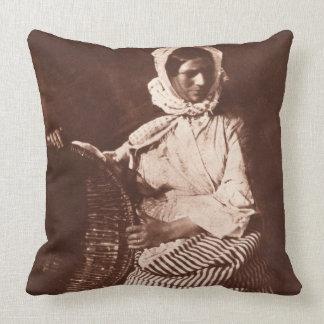 Señora Pasillo New Haven c 1843-47 impresión fr Cojin
