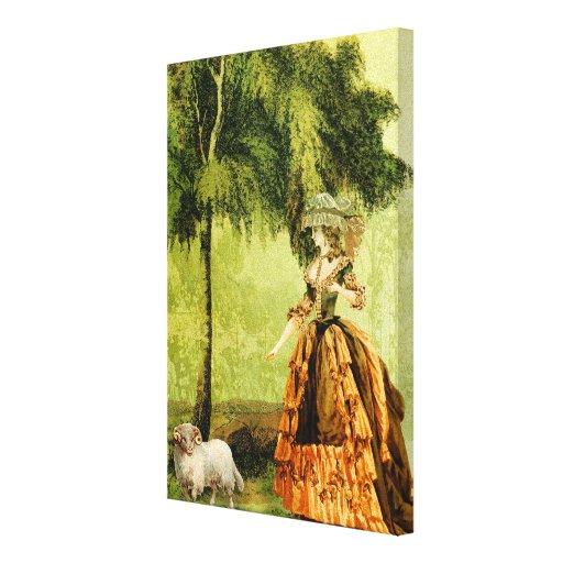 Señora pastoral impresiones en lienzo estiradas