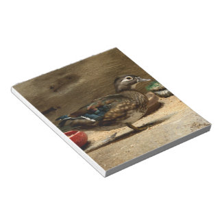 Señora pato de madera libreta para notas