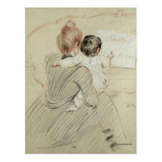 Señora Paul Helleu y su hija Paulette Tarjeta Postal