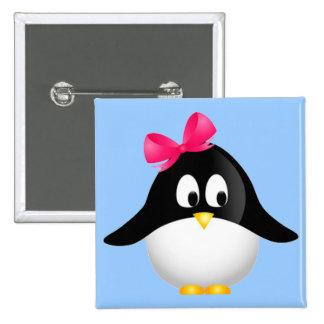 Señora Penguin Pin Cuadrado