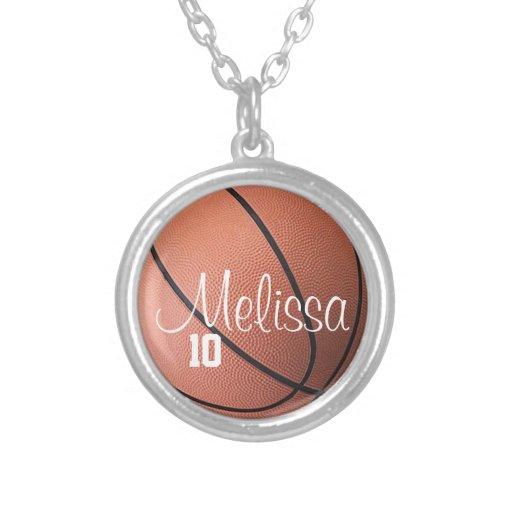 Señora personalizada Basketball Necklace Colgante Redondo
