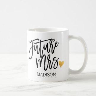 Señora personalizada, futura taza de café