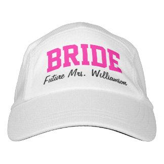 Señora personalizada rosa fresco Bride Hat Gorra De Alto Rendimiento