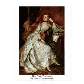 Señora Philip Thickness By Thomas Gainsborough Tarjetas Postales