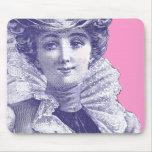 Señora Pink y Mousepad púrpura del Victorian del v Tapete De Raton