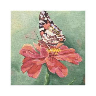 Señora pintada 0461 Butterfly Wrapped Canvas Print Lienzo Envuelto Para Galerías