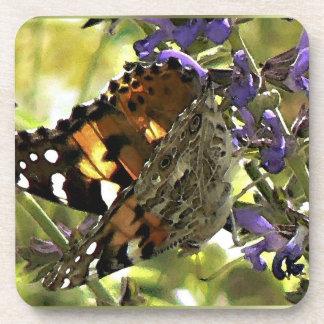 Señora pintada americano Butterfly Coaster Posavasos De Bebida