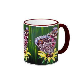 Señora pintada americano tazas de café