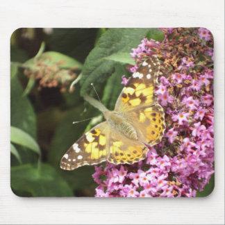 Señora pintada Butterfly Alfombrilla De Raton
