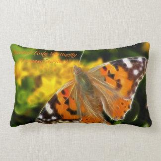 Señora pintada Butterfly (cardui de Vanesa) Cojin