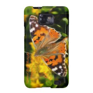 Señora pintada Butterfly (cardui de Vanesa) Galaxy SII Fundas