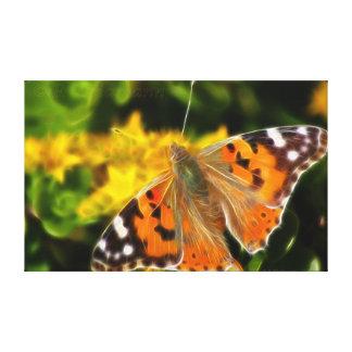Señora pintada Butterfly (cardui de Vanesa) Impresión De Lienzo