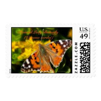 Señora pintada Butterfly (cardui de Vanesa) Sello