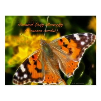 Señora pintada Butterfly (cardui de Vanesa) Tarjetas Postales