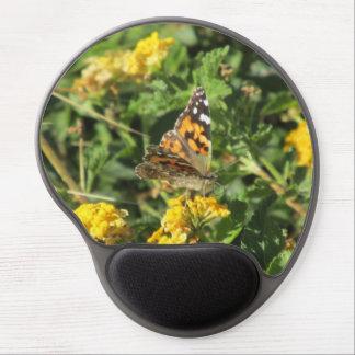 Señora pintada Butterfly en las floraciones del La Alfombrillas Con Gel