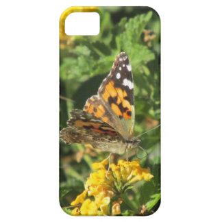 Señora pintada Butterfly en las floraciones del La iPhone 5 Case-Mate Cárcasa