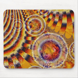 Señora pintada Butterfly Fractal Tapestry Mouse Pads
