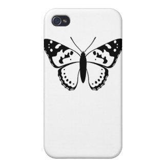 Señora pintada Butterfly iPhone 4 Cobertura