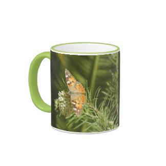 Señora pintada Butterfly Mug Taza