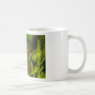 Señora pintada Butterfly Mug Taza De Café